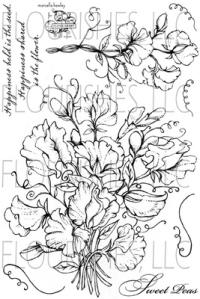 Flourishes ~ Sweet Peas